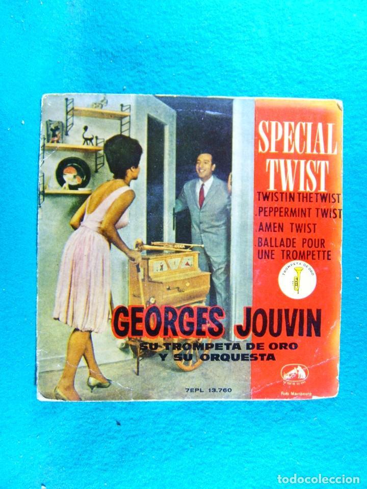 SPECIAL TWIST-GEORGES JOUVIN SU TROMPETA DE ORO Y SU ORQUESTA-SINGLE-BARCELONA-1962. (Música - Discos - Singles Vinilo - Country y Folk)