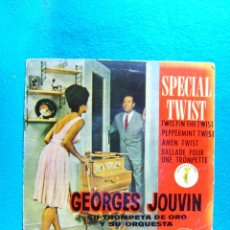 Discos de vinilo: SPECIAL TWIST-GEORGES JOUVIN SU TROMPETA DE ORO Y SU ORQUESTA-SINGLE-BARCELONA-1962.. Lote 186376217