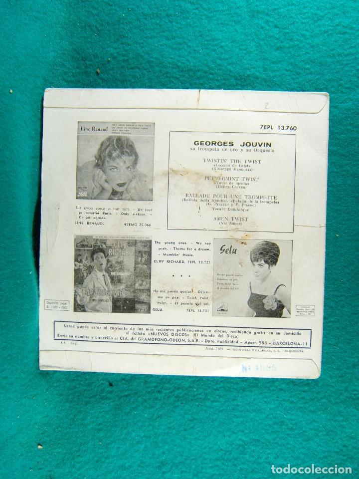 Discos de vinilo: SPECIAL TWIST-GEORGES JOUVIN SU TROMPETA DE ORO Y SU ORQUESTA-SINGLE-BARCELONA-1962. - Foto 2 - 186376217
