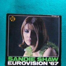 Discos de vinilo: SANDIE SHAW-EUROVISION 67-MARIONETAS EN LA CUERDA-SINGLE-MADRID-1967.. Lote 186377028