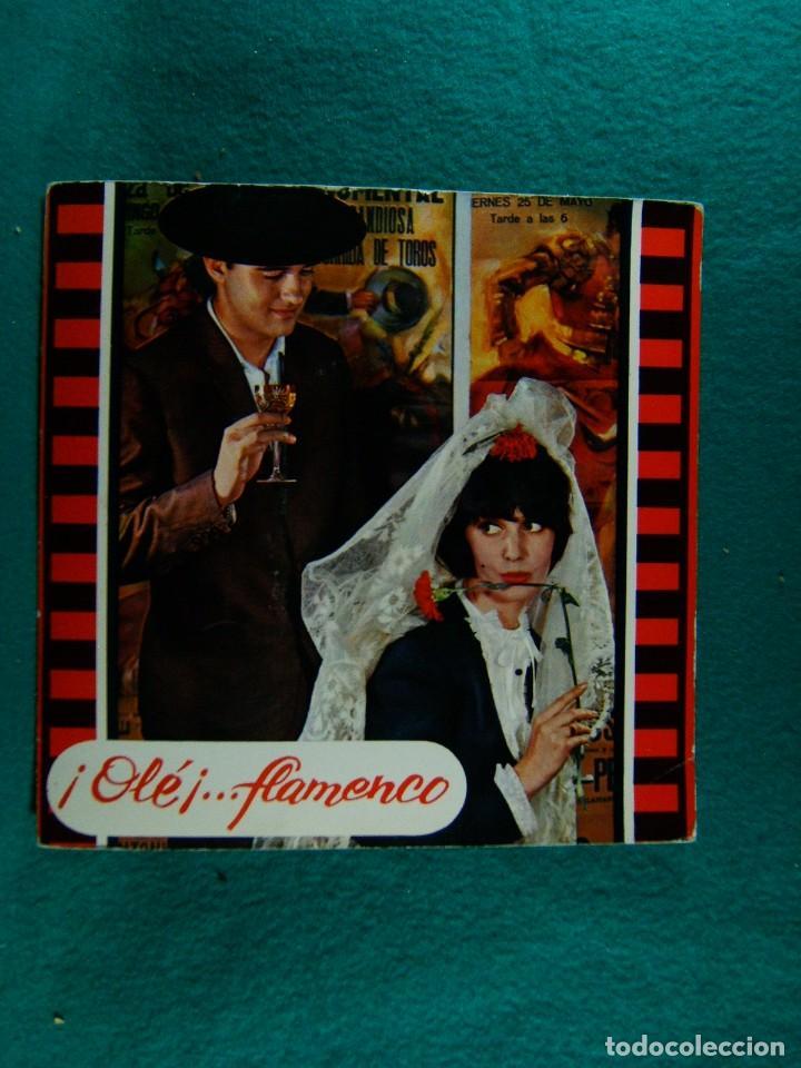 ¡ OLE !...FLAMENCO-BULERIAS-TANGUITO-VERDIAL-FARRUCA-INTERIOR CON BONITO DESPLEGABLE-SINGLE-1965. (Música - Discos - Singles Vinilo - Otros estilos)
