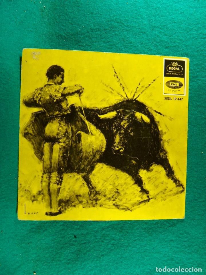 Discos de vinilo: ¡ OLE !...FLAMENCO-BULERIAS-TANGUITO-VERDIAL-FARRUCA-INTERIOR CON BONITO DESPLEGABLE-SINGLE-1965. - Foto 3 - 186378210