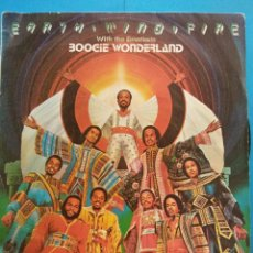 Discos de vinilo: EARTH WIND & FIRE. WITH THE EMOTIONS. BOOGIE WONDERLAND. CBS. Lote 186378622
