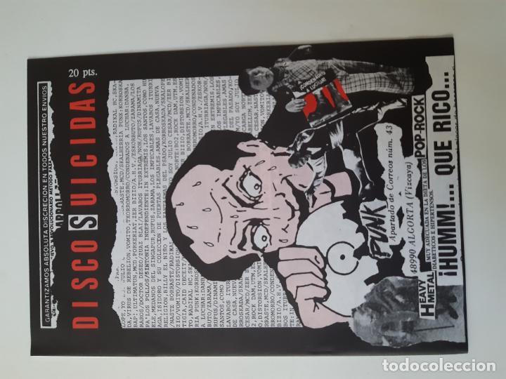 Discos de vinilo: VOMITO. A UN PASO DE LA LOCURA - LP 1990 + LIBRETO + ENCARTE- DISCOS SUICIDAS- COMO NUEVO. - Foto 3 - 186385155
