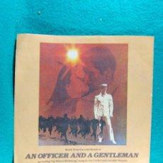 Discos de vinilo: AN OFFICER AND A GENTLEMAN-OFICIAL Y CABALLERO-LONDON-INGLATERRA-SINGLE DE PLASTICO FLEXIBLE-AÑOS 90. Lote 186385600