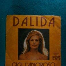 Discos de vinilo: DALIDA-GIGI L'AMOROSO-SINGLE-POPLANDIA-1974.. Lote 186386617