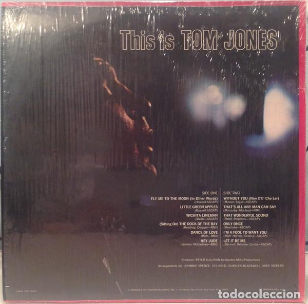 Discos de vinilo: Tom Jones ‎– This Is Tom Jones - Foto 2 - 186405152
