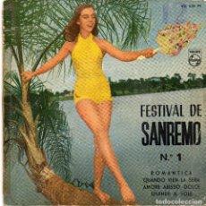 Discos de vinilo: FESTIVAL DE SANREMO - ROMANTICA + 3.EP.S . Lote 186411698