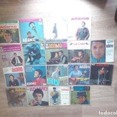 Discos de vinilo: ADAMO / LOTE 21 EP 45 RPM / EMI LA VOZ DE SU AMO / 18 ESPAGNE ESPAÑA SPAIN + 3 FRANCE. Lote 186429933
