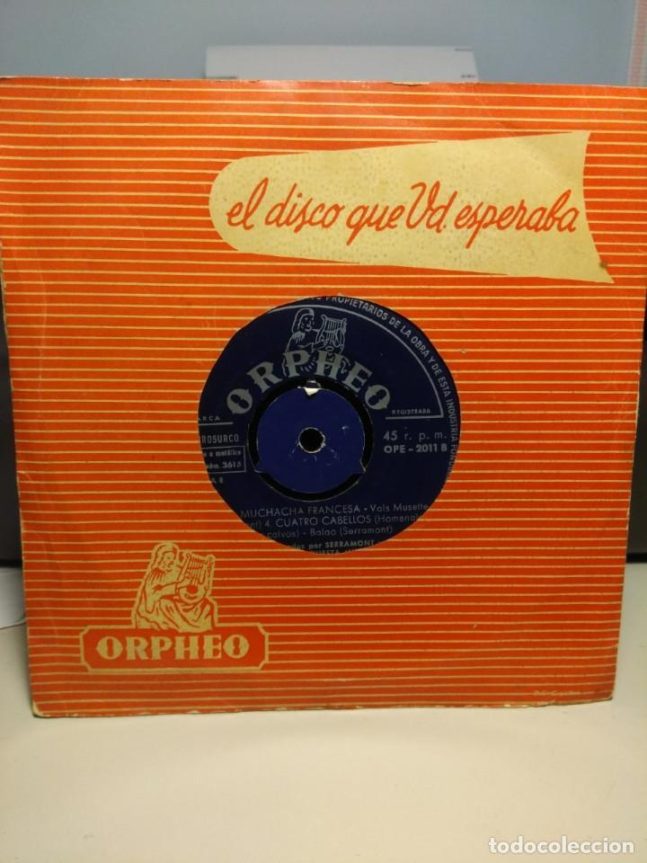 RARISIMO EP DE SERRAMONT Y SU GRAN ORQUESTA MUSETTE : MUCHACHITA DE SORRENTO + 3 (Música - Discos de Vinilo - EPs - Orquestas)