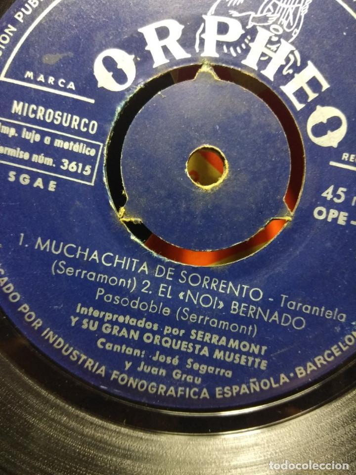 Discos de vinilo: RARISIMO EP DE SERRAMONT Y SU GRAN ORQUESTA MUSETTE : MUCHACHITA DE SORRENTO + 3 - Foto 2 - 186434538