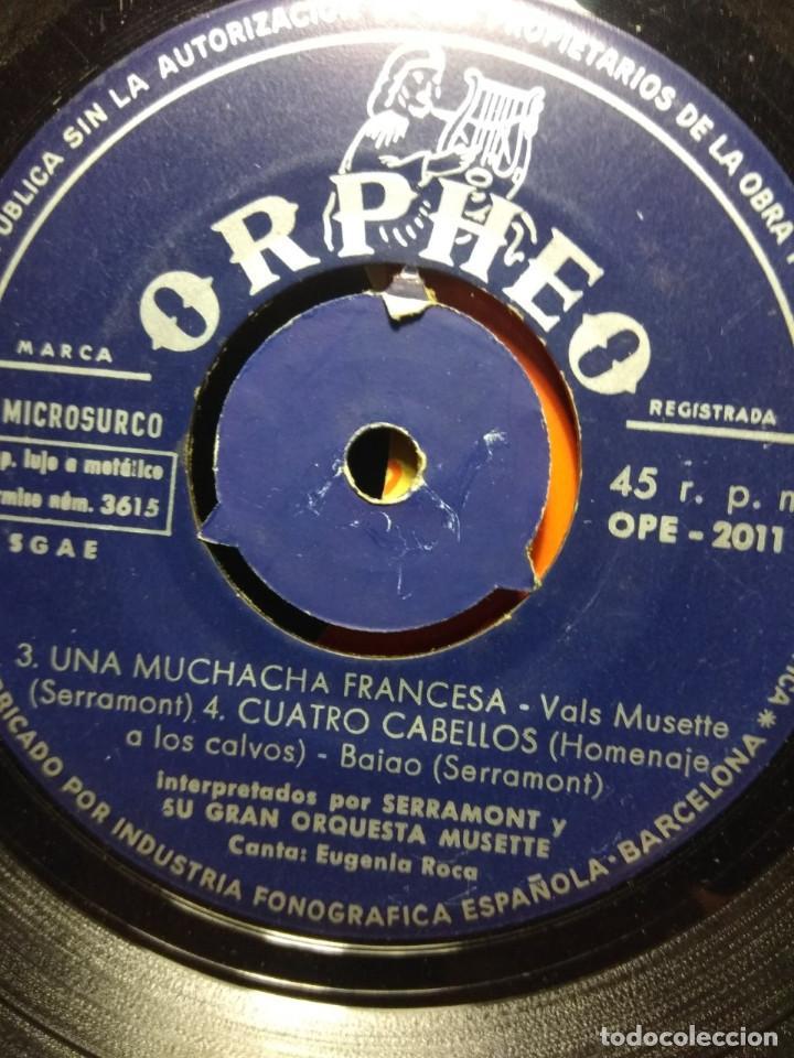 Discos de vinilo: RARISIMO EP DE SERRAMONT Y SU GRAN ORQUESTA MUSETTE : MUCHACHITA DE SORRENTO + 3 - Foto 3 - 186434538