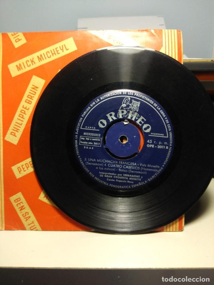 Discos de vinilo: RARISIMO EP DE SERRAMONT Y SU GRAN ORQUESTA MUSETTE : MUCHACHITA DE SORRENTO + 3 - Foto 4 - 186434538