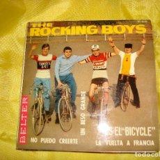 Discos de vinilo: THE ROCKING BOYS. UN BESO GRANDE / ES EL BICLYCLE + 2. EP. BELTER, 1966. SPAIN. IMPECABLE (#). Lote 186436507