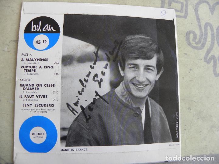 Discos de vinilo: LENY ESCUDERO -A MALYPENSE -EP -EDIC. FRANCESA - Foto 3 - 186436877