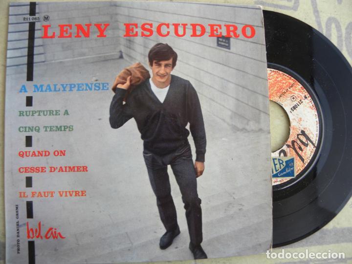 LENY ESCUDERO -A MALYPENSE -EP -EDIC. FRANCESA (Música - Discos de Vinilo - EPs - Canción Francesa e Italiana)