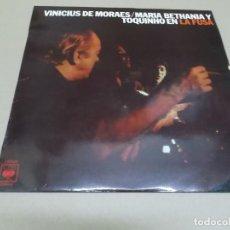 Discos de vinilo: VINICIUS DE MORAES, MARIA BETHANIA Y TOQUINHO (LP) EN LA FUSA AÑO – 1974. Lote 186439170