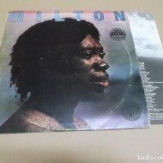 Discos de vinilo: MILTON NASCIMENTO (LP) MILTON AÑO – 1977 – EDICION PORTUGUESA + HOJA CON LETRAS. Lote 186439311