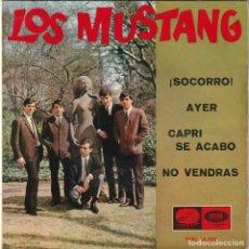 Discos de vinilo: LOS MUSTANG - ¡SOCORRO! + 3 (EP EMI 1965). Lote 186447272