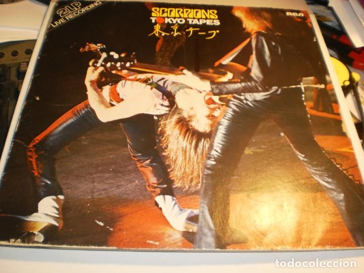 LP 2 DISCOS SCORPIONS. TOKYO TAPES. CARPETA DOBLE. RCA 1978 GERMANY (PROBADOS Y BIEN, LEER) (Música - Discos - LP Vinilo - Heavy - Metal)