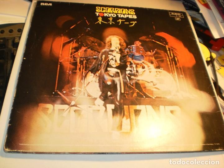 Discos de vinilo: lp 2 discos scorpions. tokyo tapes. carpeta doble. rca 1978 germany (probados y bien, leer) - Foto 2 - 186450751