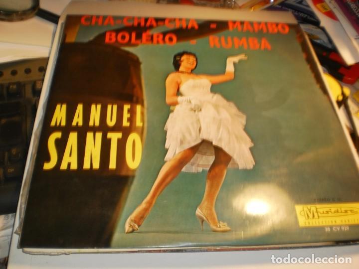 LP MANUEL SANTO Y SU ORQUESTA DE LA HABANA. MUSIDISC FRANCE (PROBADO Y BIEN, SEMINUEVO) (Música - Discos - LP Vinilo - Grupos y Solistas de latinoamérica)