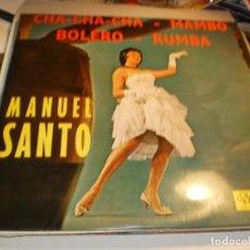 Discos de vinilo: LP MANUEL SANTO Y SU ORQUESTA DE LA HABANA. MUSIDISC FRANCE (PROBADO Y BIEN, SEMINUEVO). Lote 186451628