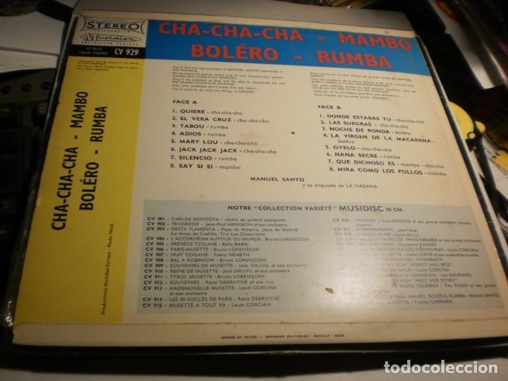 Discos de vinilo: lp manuel santo y su orquesta de la habana. musidisc france (probado y bien, seminuevo) - Foto 2 - 186451628