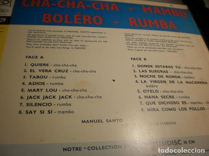 Discos de vinilo: lp manuel santo y su orquesta de la habana. musidisc france (probado y bien, seminuevo) - Foto 3 - 186451628