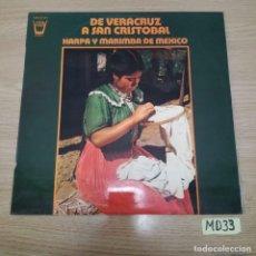 Discos de vinilo: DE VERACRUZ A SAN CRISTÓBAL. Lote 186463881