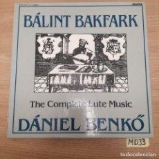 Discos de vinilo: BALINT BAKFARK. Lote 186464152