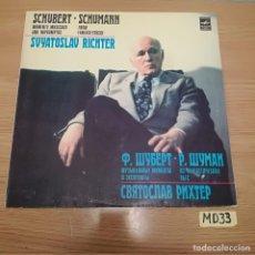 Discos de vinilo: SCHUBERT SCHUMANN. Lote 186464208
