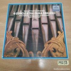 Discos de vinilo: 4 CONCIERTOS PARA ÓRGANO. Lote 186464348
