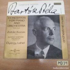 Discos de vinilo: CONCIERTOS DE PIANO Y ORQUESTA. Lote 186464871
