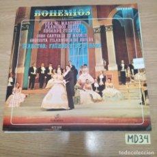 Discos de vinilo: BOHEMIOS. Lote 186464878