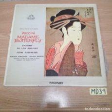 Discos de vinilo: PUCCINI MADAME BUTTERFLY. Lote 186464933