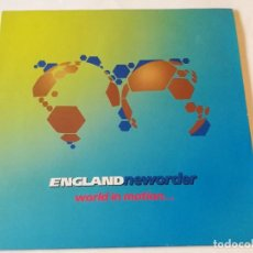 Discos de vinilo: ENGLANDNEWORDER - WORLD IN MOTION... - 1990. Lote 186698581
