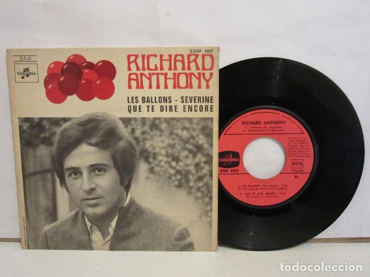 RICHARD ANTHONY - LES BALLONS / SEVERINE +1 - EP - 1968 - FRANCIA - VG/VG (Música - Discos de Vinilo - EPs - Canción Francesa e Italiana)