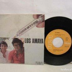 Discos de vinilo: LOS AMAYA - LA INYECCION (QUE TE LA PONGO) - SINGLE - 1977 - SPAIN - VG+/VG. Lote 186816235