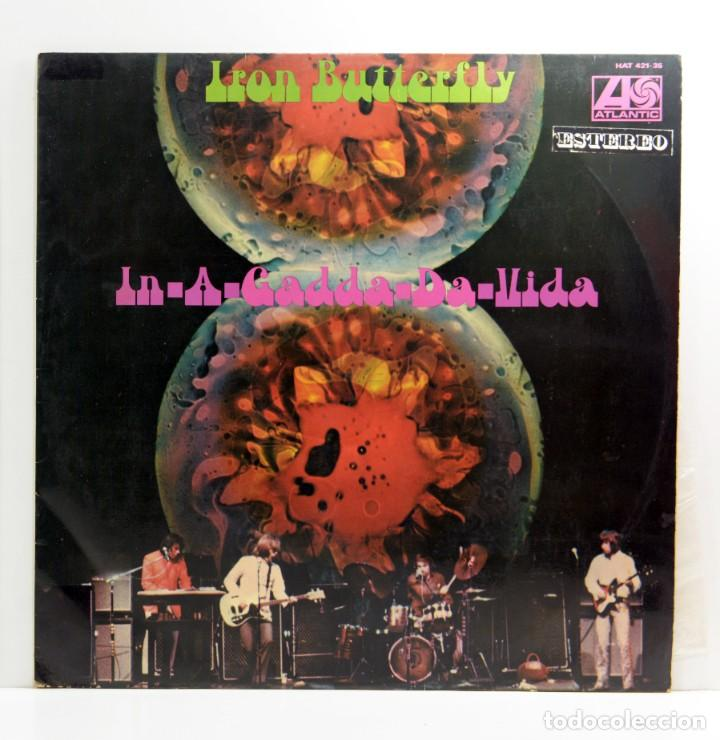 LP IRON BUTTERFLY - IN A GADDA DA VIDA - ATLANTIC - HISPAVOX - MADRID 1977 (Música - Discos de Vinilo - Maxi Singles - Pop - Rock Extranjero de los 70)