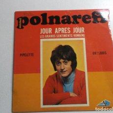 Discos de vinilo: MICHEL, POLNAREFF,PIPELETTE,OHI LOUIS, JOUR APRES JOUR, AZ RECORDS, PARIS, EP 1 222. Lote 187090605