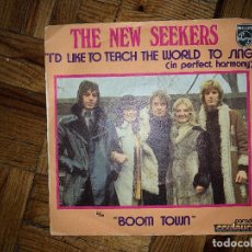 Discos de vinilo: THE NEW SEEKERS ‎– I'D LIKE TO TEACH THE WORLD TO SING (IN PERFECT HARMONY) SELLO: PHILIPS ‎– 6006 . Lote 187091138