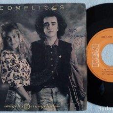 Discos de vinilo: CÓMPLICES - ANGELES DESANGELADOS / CUANDO CAIGA EL SOL - SINGLE 1989 - RCA. Lote 187100782
