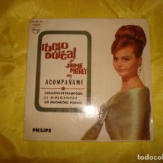 Discos de vinilo: ROCIO DURCAL Y JAIME MOREY. ACOMPAÑAME. EP. PHILIP, 1965. IMPECABLE (#). Lote 187101032