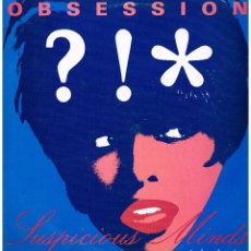 Discos de vinilo: OBSESSION - SUSPICIOUS MINDS / I WANT YOU TOO MUCH - MAXISINGLE 1992. Lote 187105401