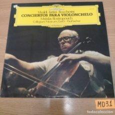 Discos de vinilo: CONCIERTOS PARA VIOLONCHELO. Lote 187113068