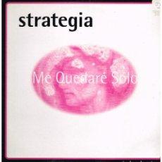 Discos de vinilo: STRATEGIA - ME QUEDARE SOLO (2 VERSIONES) / THE VISION - MAXISINGLE 1996. Lote 187116026