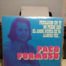 Discos de vinilo: EP PACO FORMOSO : PENSANDO EN TI ( BEAT ) + 3. Lote 187123701