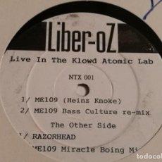 Discos de vinilo: LIBER-OZ - LIVE IN THE KLOWD ATOMIC LAB - 1991. Lote 187126170