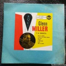 Discos de vinilo: GLENN MILLER Y SU ORQUESTA AQUI. DISCO VINILO. Lote 187141102
